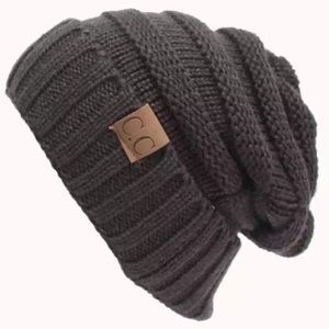Dark grey knit C.C beanie NWOT